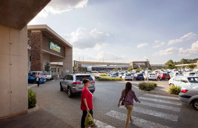 Jean Crossing parking lot in Centurion managed by Dorpstraat Properties