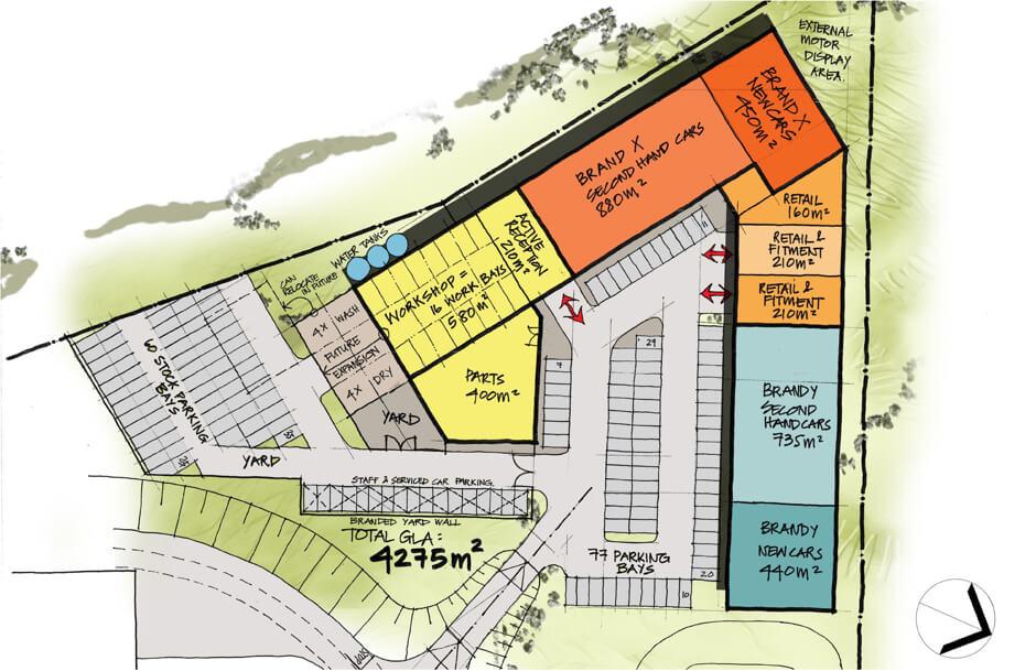 Floor plan of Kalahari Mall managed by Dorpstraat Properties
