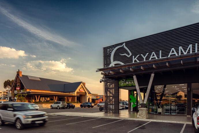 Kyalami Corner Shopping Centre signage in Witpoort
