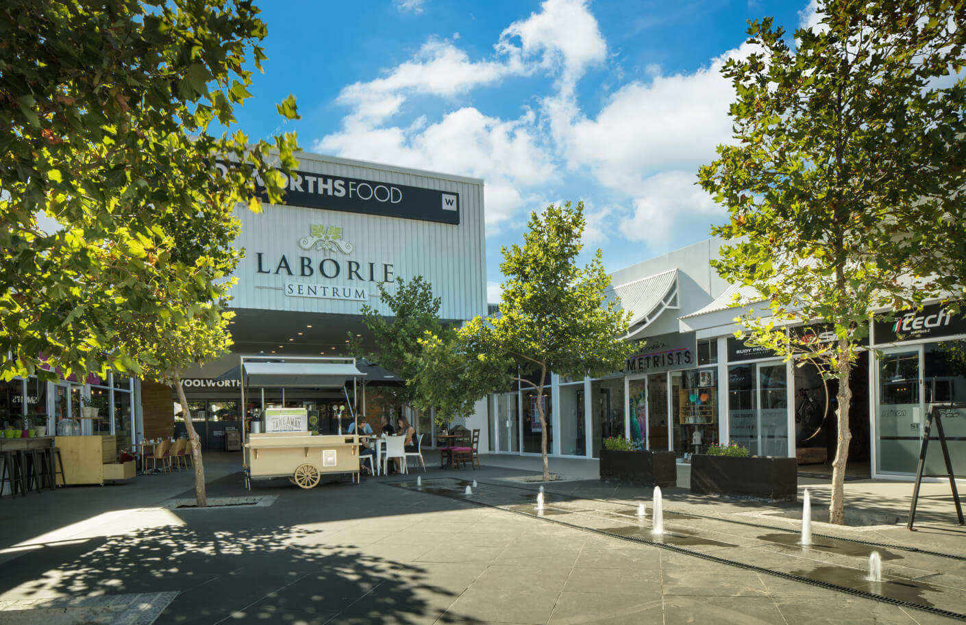 Woolworths Food entrance at Laborie Centre in Paarl