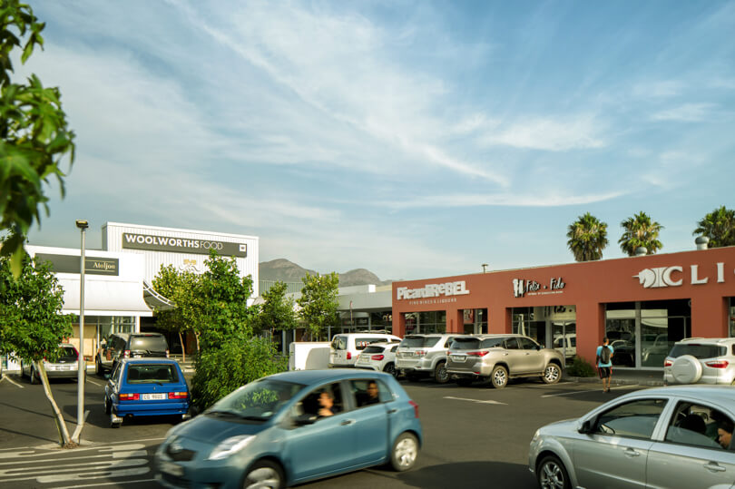 Woolworths Food entrance at Laborie Centre in Paarl managed by Dorpstraat Properties