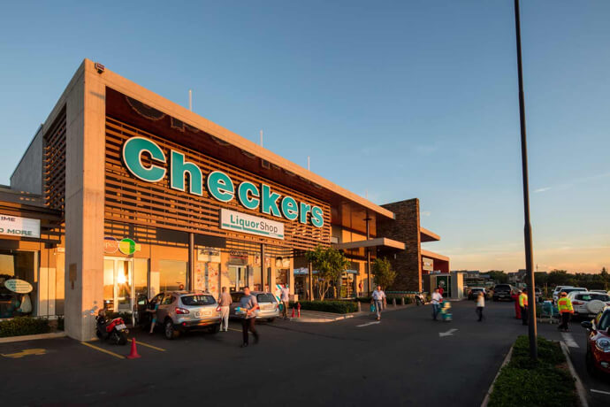 Checkers entrance at Olympus Square in Pretoria East