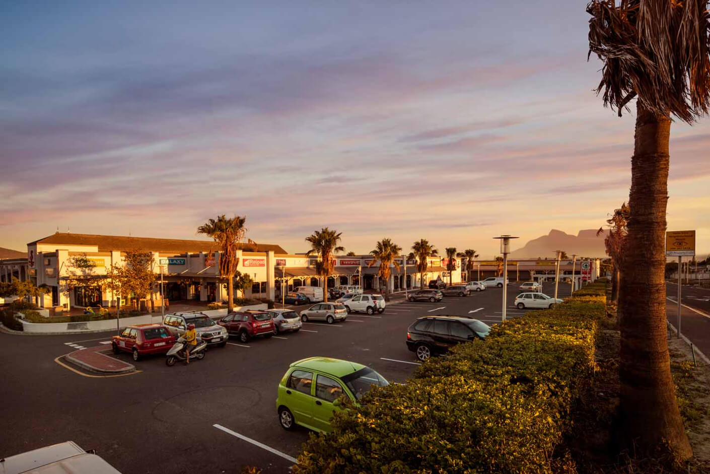 Flamingo Square building and parking lot in Table View managed by Dorpstraat Properties