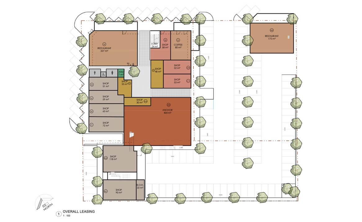 Floor plan of Linden Lanes shopping centre