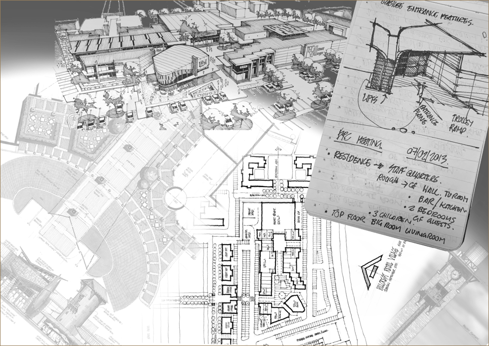 Drawings and plans of malls and shopping centres managed by Dorpstraat Properties
